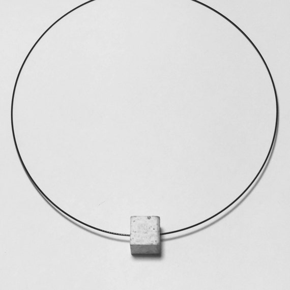 Choker Chain Necklace concrete jewelry gray made of concrete colier