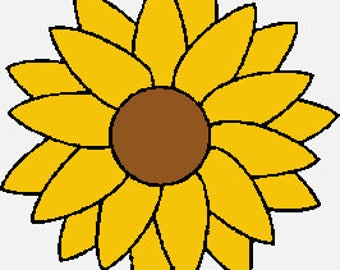 Sunflower Embroidery Fill Design