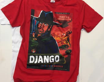 DJANGO Vintage movie poster Men's t-shirts Medium