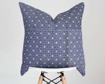 20 x 20 Blue (Periwinkle) Chinese Wedding Blanket Pillow Cover, Boho Pillow Cover, Nursery Pillow Cover, Vintage Pillow Cover