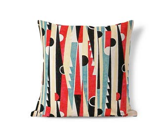 Art Deco Pillow - Arrow Pillow - Oversized Pillow - Colorful Pillow - Striped Pillow Sham - Pillow Sham - Throw Pillow Cover - Accent Pillow