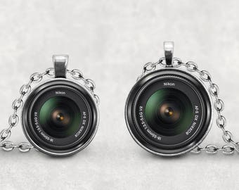 Nikon Camera Lens Necklace, Camera Lover, Camera Lens Jewelry, Vintage Camera Lens, Photography Necklace, Old Retro Camera,  Pendeloque