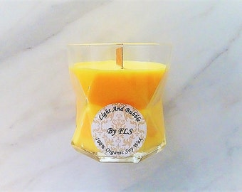 Orange soy candle - wooden wick - Citrus fragrance