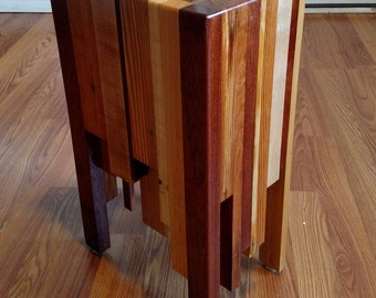 End Table or Side Table - End Grain - Ready to ship