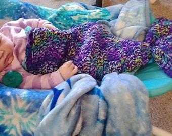 Mermaid baby cocoon