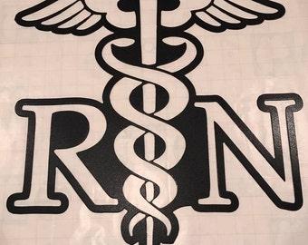 Registered Nurse (RN) Logo Metal Wall Decor