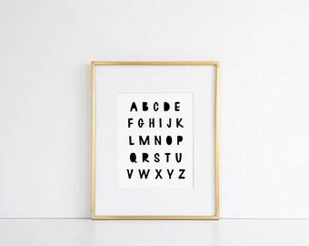ABC Kids Room Decor // Alphabet Printable, ABC Room Decor, ABC Decoration, Alphabet Room Decor, Alphabet Kids Decor, Alphabet Poster