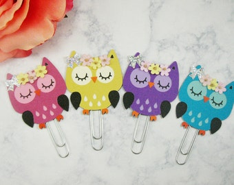 Owl Planner Paperclips, Planner Paper clips, Planner Accessories, Cute Paperclips, Happy Planner, Planner decoration, Planner clips