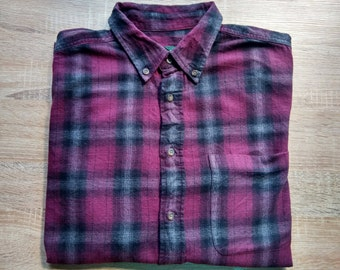 Vintage Flannel shirt- purple