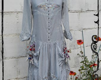 Alice - Dress, Dress, customization by MissTerre & the pickle, Handmade in France, T.38/40, M.