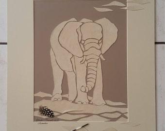 White Etosha Elefant