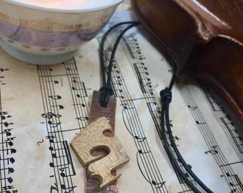 Copper Violin Bridge Pendant