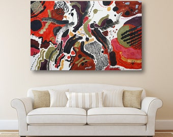 Erotic Art Large Painting Abstract Oil Painting Wall Decor Erotic Art Canvas Art Digital Art Modern Artwork Abstract Art Original Painting