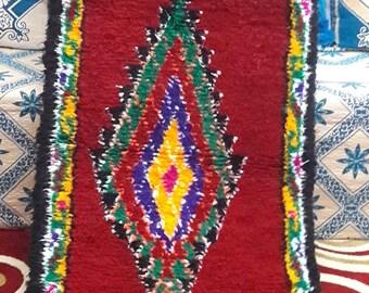 BOUCHEROUITE RUG carpet carpets rugs MOROCCAN berber handmade cotton blend 2'7x10