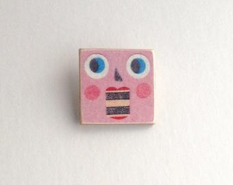 Pink Robot Pin