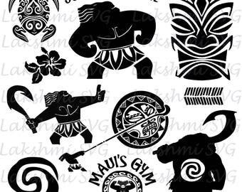 Maui svg etsy studio for Maui tattoo stencil