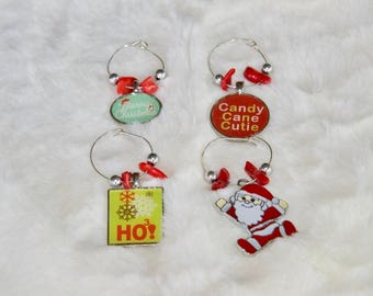 Candy Cane Cutie Wine Charms