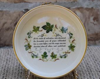 Prinknash Pottery Porcelain Wine Coaster Made in Gloucester England