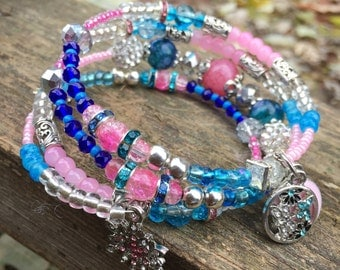 Glam wire wrap Bracelet