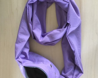 Sugar Glider Bonding Scarf Double Loop - Sugar Glider Bonding Pouch - Glider Carry Pouch - Rat Bonding Pouch - Bonding Bag - Lavender Cotton