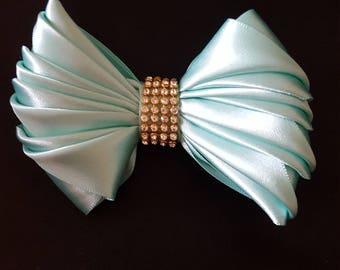 Glamour  Hair Bow Aqua