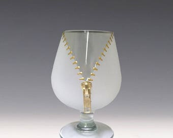 XYZ Zipper Brandy Glass - A slightly naughty but way fun way to enjoy your brandy!