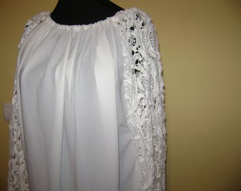 Blouse with lace sleeves, Long Sleeve Blouse