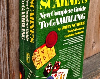 Scarne's New Complete Guide to Gambling (1974) -- Vintage Book