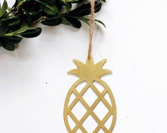 Pineapple Ornament | Metal Ornament | Brass Ornament | Steel Ornament | Tree Ornament | Christmas Stocking Stuffer | Pineapple Decor