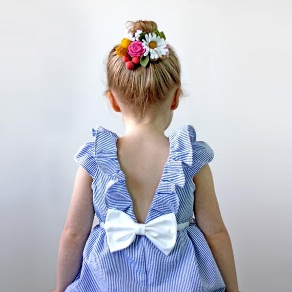 Seersucker Flower Girl
