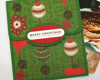 Christmas Gift Card Holder - Christmas Money Card - Holiday Tip Envelope - Merry Christmas Gift Card Envelope, Xmas Money Car