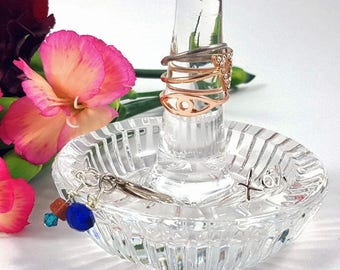 Vintage Waterford Crystal Ring Stand