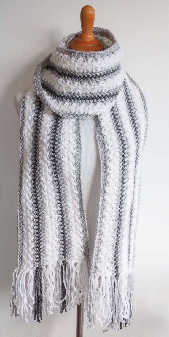 Chunky Yarn Scarf Crochet Pattern Striped Scarf Pattern
