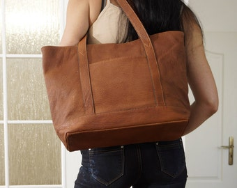 Leather Bag, Leather Handbag, Leather Tote, Leather Tote Bag, Leather Purse, Laptop Bag, Leather Shopper, Amy - distressed brown