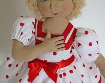 SHIRLEY TEMPLE Handmade Cloth Doll