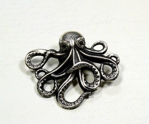 NEW Steampunk Jewelry Steampunk Hat Pin Octopus Pin Kraken Cthulhu Jewelry Steampunk Goggles Pirate Steampunk Jewelry Victorian Curiosities