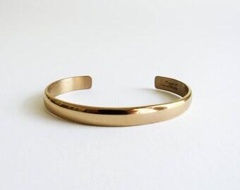 Vintage Sergio Lub Gold Tone Minimal Cuff Bracelet