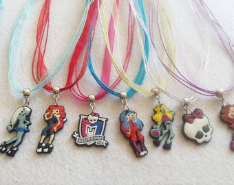 10 Monster High Silicone Neckalces  Party favors.