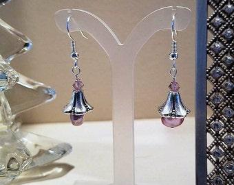 pearl earrings, pearl jewelry, pearl drop earrings, crystal earrings, hypoallergenic earrings, nickel free earrings, pierced earrings