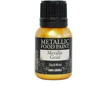 Metallic Gold 25g- US Edible Food Paint by Rainbow Dust for cake decorating