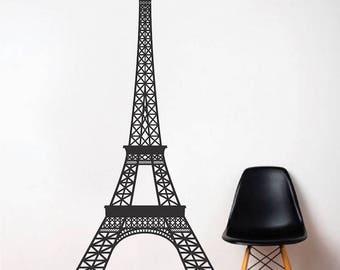 Eiffel Tower Wall Decal France Travel Wallpaper Mural Removable Landmark  Bedroom Europe Wall Design Living Room