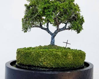 Miniature Tree with Grave