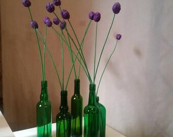 "Bouquet of 9 purple ""tulips"""