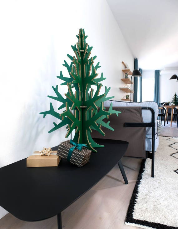 90 cm (2'95'') green laser cut cardboard christmas tree, home and Holiday party decoration