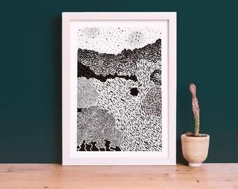 Invertebrate Series Coral 01 Art Giclee Print