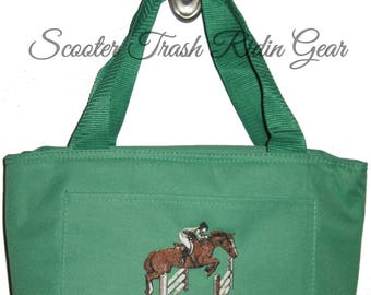 Free Shipping - Personalized Jumping Horse Lunch Bag - More Colors - monogrammed - NEW