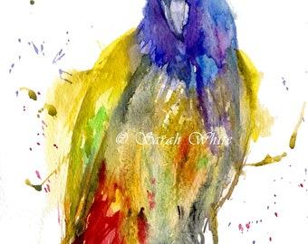 Original bird Watercolour