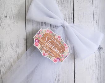 Floral Bridal Shower Welcome Sign-Multiple Colors-Bridal Shower Decor-Wood sign-Welcome Shower-Bachelorette Party Decor-Door Mailbox decor