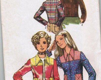 VINTAGE1970's jacket  simplicity 9702 SIZE 8 sewing pattern