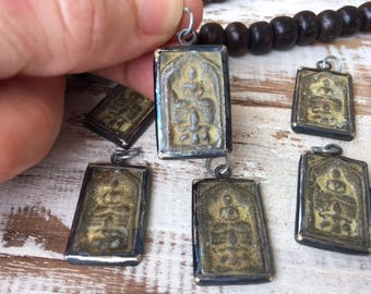 Small Buddha Amulet Pendant in Antique Brass Frame / Buddha Charms / Amulet Pendant / Amulet / Buddhist Amulet / SBB6